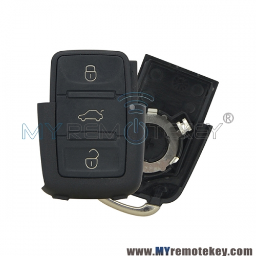 Remote key fob shell case for VW HU66 3 button