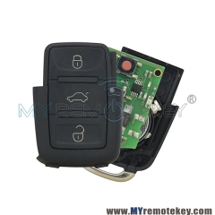 1J0 959 753 N Remote key fob for VW 3 button 434mhz 1J0959753N