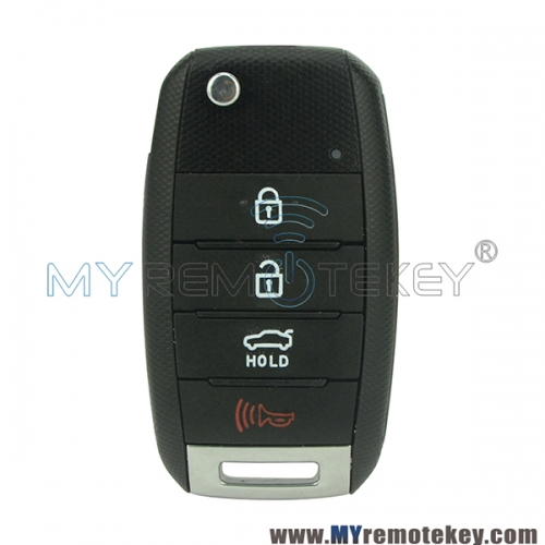 Flip remote key for Kia Forte 4 button OSLOKA-OKA870T