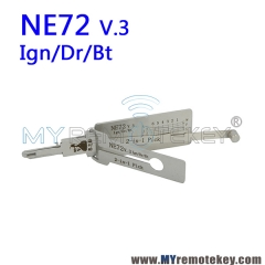 LISHI NE72 v.3 Ign/Dr/Bt 2 in 1 Auto Pick and Decoder For Peugeot 206 and Renault