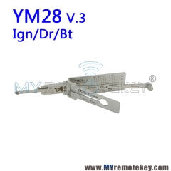 LISHI YM28 v.3 Ign/Dr/Bt 2 in 1 Auto Pick and Decoder
