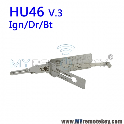 LISHI HU46 v.3 Ign/Dr/Bt 2 in 1 Auto Pick and Decoder for Opel Antara Sail