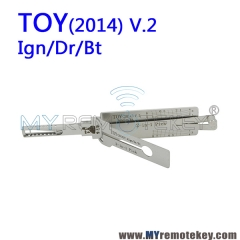 Lishi TOY(2014) v.2 Ign/Dr/Bt 2 in 1 Auto Lock Pick Decoder for Toyota