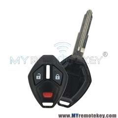 Remote car key case shell for Mitsubishi 2 button with panic MIT11R for Mitsubishi Eclipse Galant Lancer Outlander Endeavor OUCG8D620MA