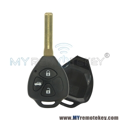 Remote key shell for Toyota Crown Reiz Highlander 3 button TOY48 short