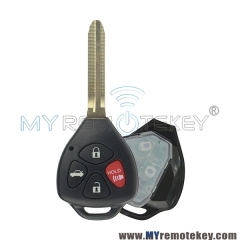 HYQ12BBY GQ4-29T Remote key 4 button TOY43 314.4mhz 315Mhz for Toyota Camry Corolla 2007 2008 2009 2010