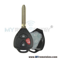 Remote car key for Toyota RAV4 Camry Corolla Matrix Venza Avalon TOY43 3 button