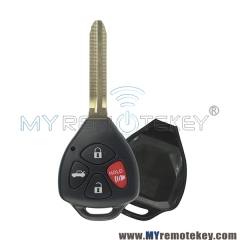 Remote key case shell 4 button for Toyota Camry RAV4 Yaris Avalon Venza Matrix