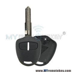 Triton Lancer Evo CT9A Vll Vlll lX LEFT remote key shell MIT8 2button For Mitsubishi