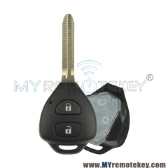 Remote key for Toyota Camry Corolla 2 button TOY43 DENSO HYQ12BBY