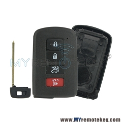 Smart key case shell 4 button for Toyota
