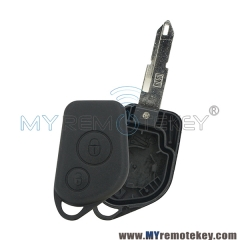Remote key shell 2 button NE72 for Citroen