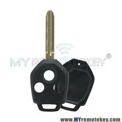 Remote car key shell case 3 button for Subaru TOY43R