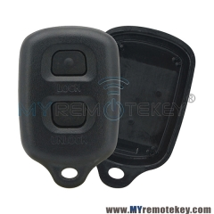 Remote fob shell case 2 button for Toyota Avensis Corolla Rav4 Yaris MR2