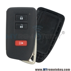 Smart key case shell 3 button for Lexus