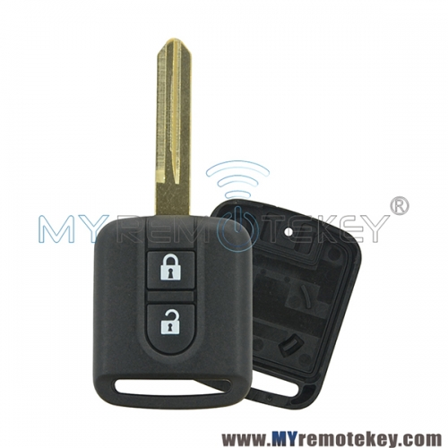 Remote car key shell case for Nissan 2 button