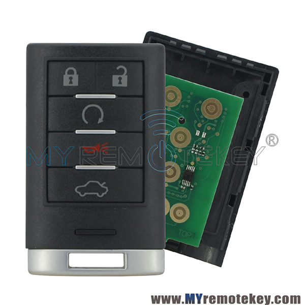 25943676 Smart Key 5 Button 315Mhz For Cadillac CTS STS