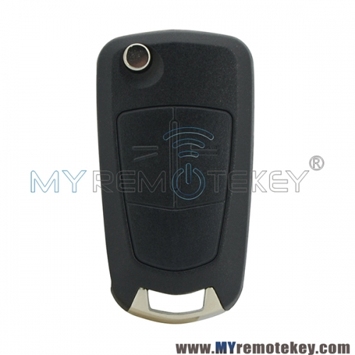 Remote flip car key 2 button VALEO 736 743-A 433mhz for Vauxhall Opel Astra H 2004 2005 2006 2007 2008 2009 PCF7941
