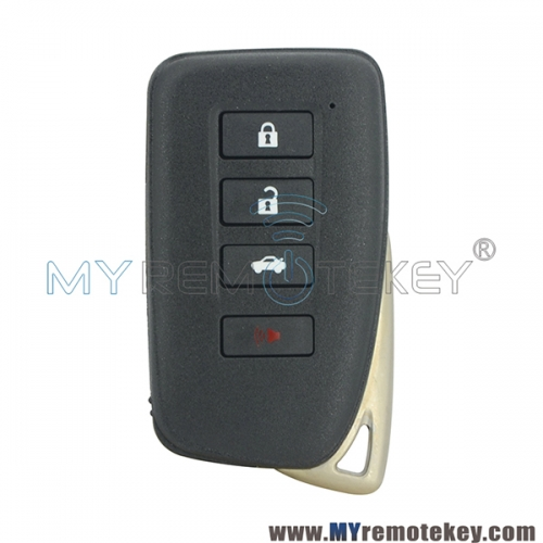 Smart key case shell 3 button with panic for Lexus ES250 IS250 GS350 GS450h
