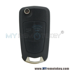 DELPHI G1-AM433TX 93189840 flip car Remote key 2 button HU100 433Mhz ID46-PCF7941 chip G1-AM433TX for Opel Corsa D 2007 2008 2009 2010 2011 2012