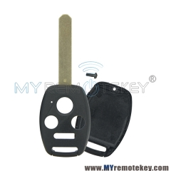 (No chip room) Remote car key shell 3 button with panic for Honda