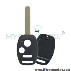 (With chip room) Remote car key shell 2 button with panic for Honda