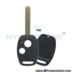 (No chip room) Remote car key shell 2 button for Honda