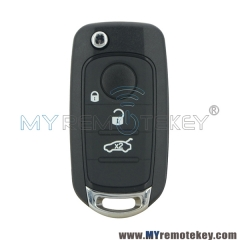 New flip key case shell 3 button for Fiat 500 500X 500L