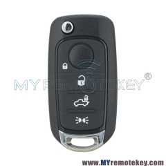 New flip key case shell 4 button for Fiat 500 500X 500L
