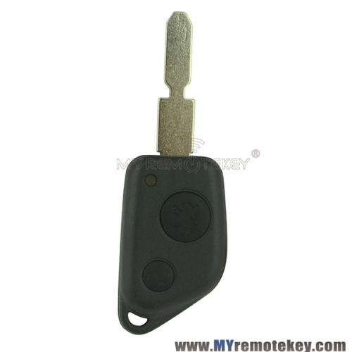 Remote key shell case 2 button for NE78 for peugeot 205 405