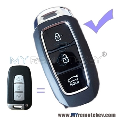 Refit key shell case 3 button for Hyundai