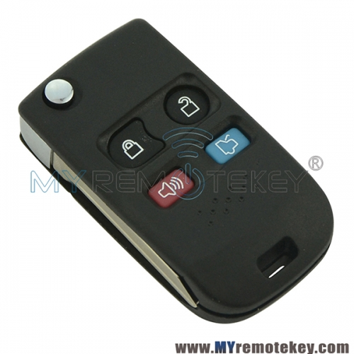 Refit key shell case 4 button for Ford