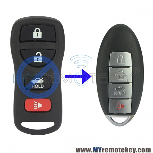 KBRASTU15 Refit smart key 4 button 315Mhz for Nissan