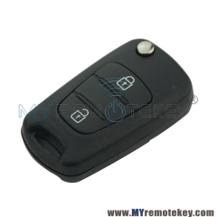 Flip key shell case 2 button for Hyundai New Elantra