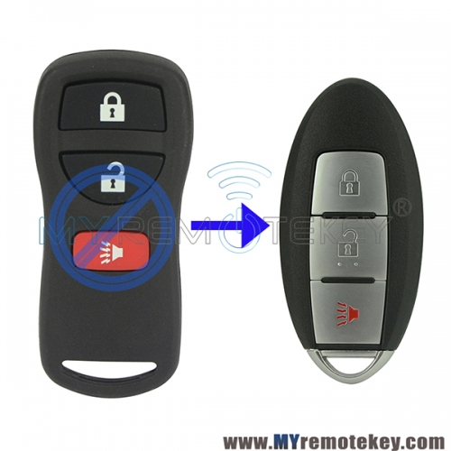 Refit smart key 315Mhz 3 button for Nissan Murano Pathfinder Xterra 2004