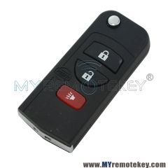 KBRASTU15 Refit flip key 3 button 315Mhz remote key for Nissan ALTIMA MAXIMA Sentra