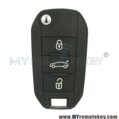 5FA010 OEM flip remote car key 3 button 433Mhz for Citroen 508 2014 2015