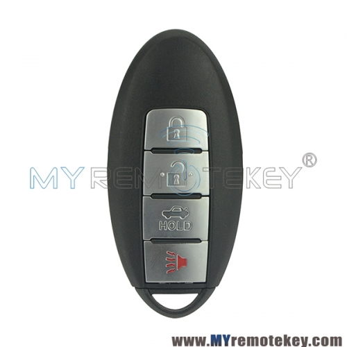 KR55WK48903 smart car key shell 4 button for Infiniti G25 G35 G37 2008 - 2012 with Notch
