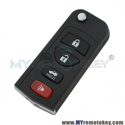 KBRASTU15 Refit flip key 4 button 315Mhz remote key for Nissan ALTIMA MAXIMA ARMADA 2005 2006