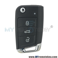 Flip remote key shell case 3 button 5G6 959 752 AB for VW Golf 7 2013 2014