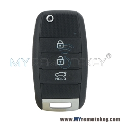 Flip key shell case 3 button for Kia Soul Sportage
