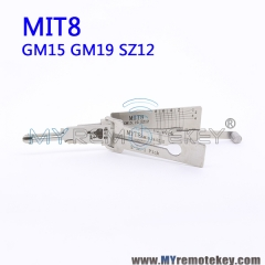 Lishi MT8 GM15 GM19 SZ12 2in1 Pick