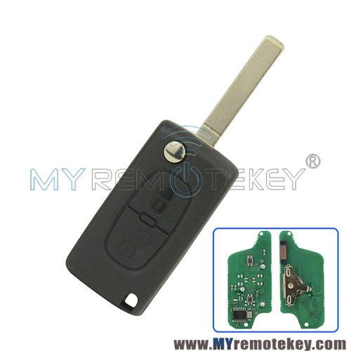 CE0523 Flip remote key for Citroen Peugeot 2 button 433mhz VA2 PCF7941 ASK electronic circuit board