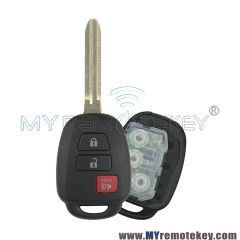 GQ4-52T remote key 3 button 314.4Mhz 434mhz for Toyota RAV4 Highlander LE 2013 2014 2015 2016 2017