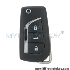 Flip car remote key TOY48 3 button 314.4Mhz ASK 89070-12A20 for Toyota AVENSIS PRIUS RAV VERSO