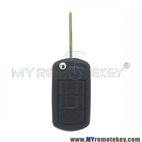 Flip remote key shell for Landrover LR3 Range Rover HU92 3 button