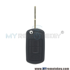 Flip remote key shell for Landrover LR3 Range Rover HU101 3 button