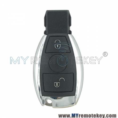 BGA Smart key case 2 button with battery holder  for Mercedes