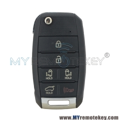 95430-A9300 flip key shell 6 button for 2015-2017 Kia Sedona TQ8-RKE-4F21