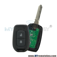 Remote key 2 button 433Mhz FSK Hitag AES-4A Chip for Renault Duster Logan Sandero Clio Fluence Vivaro Master